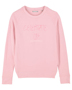 "WOMENS ""CELEBRATE LIFE"" CREWNECK SWEATSHIRT"