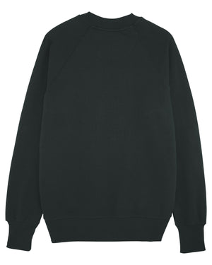 """UNE"" - MENS RELAXED FIT - RAGLAN SLEEVES - BLACK + WHITE PRINT"