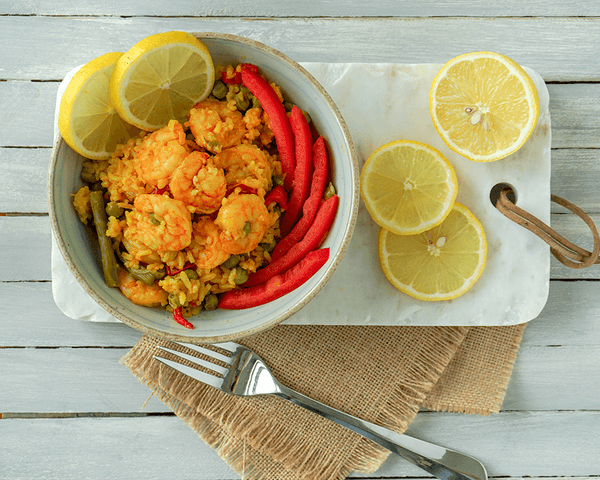 Shrimp Paella - Muscle Food Vancouver