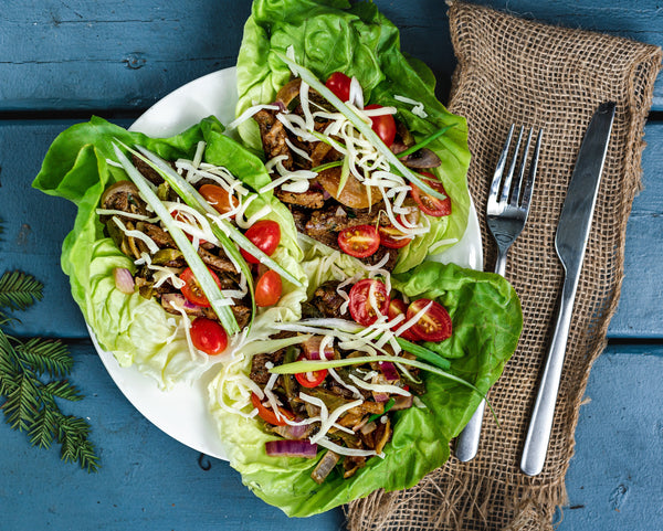 Philly Cheesesteak Lettuce Wrap - Muscle Food Vancouver