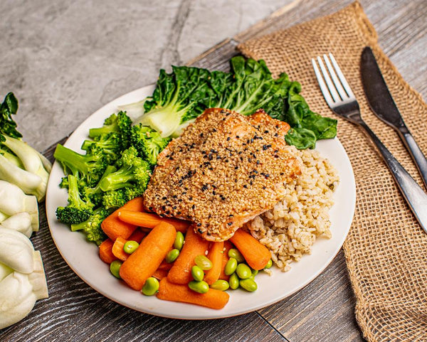 Sesame Crusted Salmon - Muscle Food Vancouver