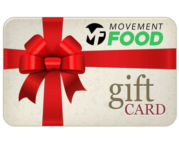 Movement Food Gift Cards - Muscle Food Vancouver