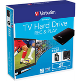Verbatim 53192 StorenGo TV Hard Drive 2TB USB3.0 Black