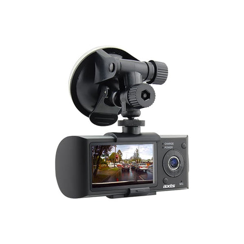 Axis DVR2 Dual Camera HD Dash Camera with GPS
