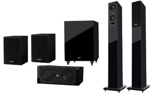 Tannoy HTS201 Home Cinema 5.1 Speaker System 88dB Gloss Black