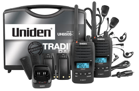Uniden UH850S-2TP 5 Watt UHF Waterproof CB Handheld – Tradies Pack