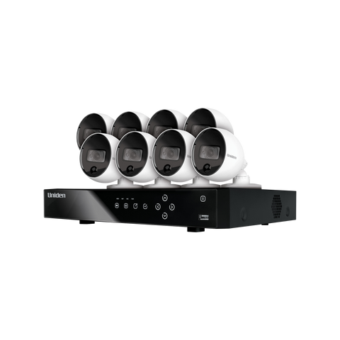 Uniden Guardian 4MP 8CH Security System with Weatherproof Cameras