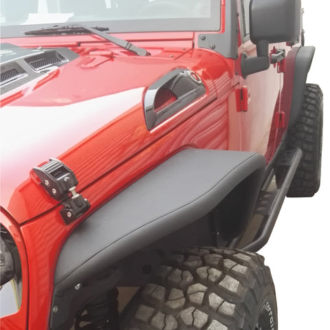 new safaripal aluminum front rear fender flare for jeep. Black Bedroom Furniture Sets. Home Design Ideas