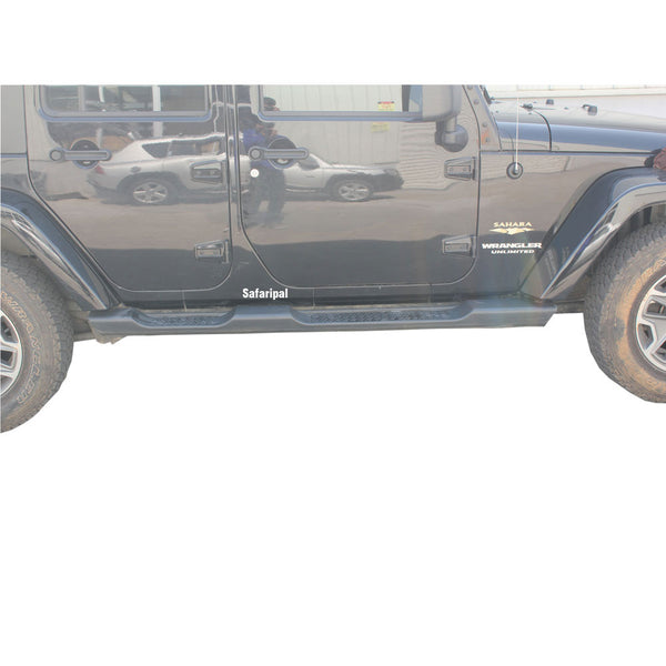 Safaripal Jeep Wrangler Side Step Running Board Nerf Bar OE Style for 2 & 4 Door 2007-2016 Black