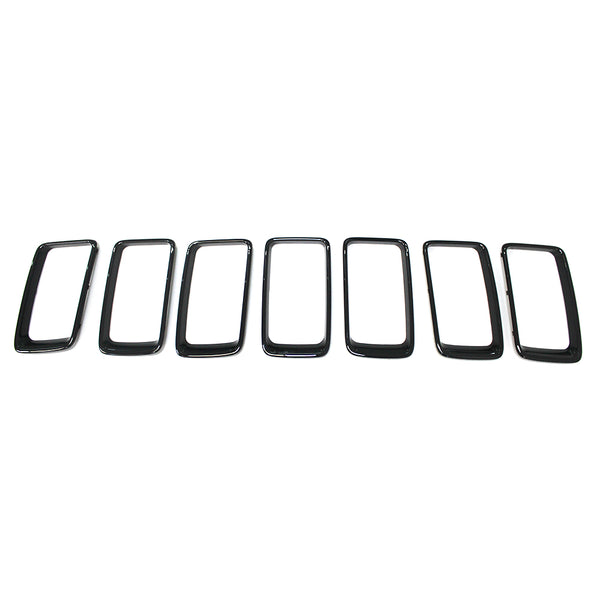 Safaripal Grille Chrome Trim Ring for Jeep Grand Cherokee 7PCS 2014-2015
