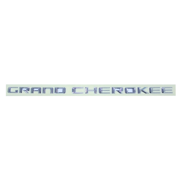 Safaripal Grand Cherokee Emblem Alloy 3D Badge Nameplate Letter Logo Decals Chrome 1Pair