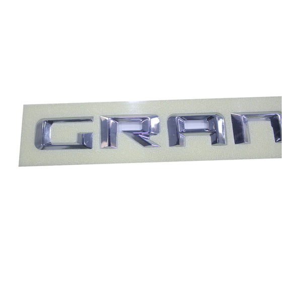 Safaripal Grand Cherokee Emblem 3D Badge Nameplate Letter Logo Decals Chrome 1Pair
