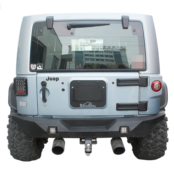 Safaripal License Plate Mount for Jeep Wrangler Jk 2007-2016