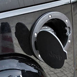 Safaripal Jeep Wrangler Black Gas Tank Cap Cover Door Fuel Filler Door fit for 2007 - 2017 Jeep Wrangler JK & Unlimited