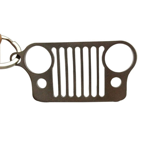 Safaripal Stainless Steel Jeep Grille Key Chain for Jeep Wrangler Gift 1PC