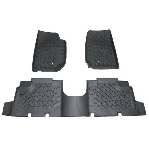 Safaripal Rubber Slush Front Floor Mats Floor Liner for 2007-2013 Jeep Wrangler JK