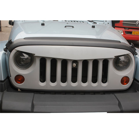 Safaripal Jeep Wrangler Front Grille Grille Wild Boar Angry Mean Face 2007 - 2017 JK Matte Black