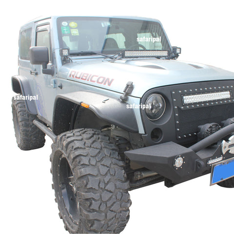 Safaripal Jeep Wrangler Fender Flare Sports Style for 2007-2016 Jeep Wrangler Jk and Unlimited