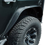 NEW Safaripal Flat Style Front Rear Fender Flare for Jeep Wrangler Jk 2007-2017 Black