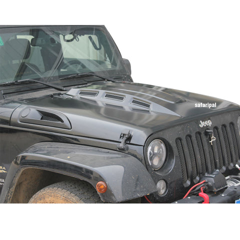 Safaripal Revenge Style Hood for 2007-2016 Jeep Wrangler Jk & Unlimited BLK
