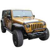 Safaripal Jeep Wrangler JK & Unlimited Stubby Front Bumper Fit 2007-2016 Black