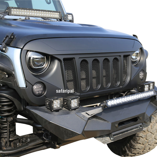 Safaripal Front Grille Six Slots Bold For Jeep Wrangler Jk