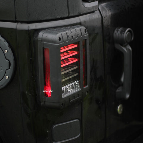 ... Safaripal LED Tail Lights For 2007 2016 Jeep Wrangler Jk Brake Reverse  Turn Signal Lamp ...