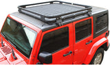 Safaripal Roof Mounted Luggage Cargo Storage Rack Carrier Basket Traveling Holder for Jeep Wrangler JK Rubicon Sahara Sports 2/4dr 2007-2017