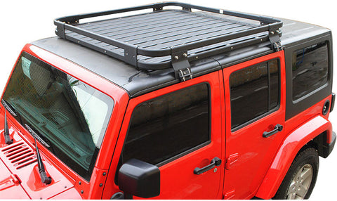 Safaripal Roof Mounted Luggage Cargo Storage Rack Carrier Basket Traveling  Holder For Jeep Wrangler JK Rubicon