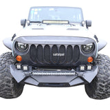 Safaripal Jeep Wrangler Monster Angry Front Grille Grill for 2007 - 2017 Jeep Wrangler Rubicon Sahara Sports Jk Black