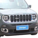 SAFARIPAL Front Grille Trim Ring Inserts for Jeep Renegade 2015-2016 (Black)
