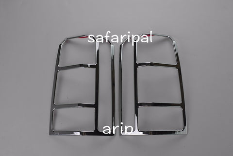 Safaripal Chrome Rear Tail Light Lamp Cover Trim for Jeep Patriot  2PC  2011-2015
