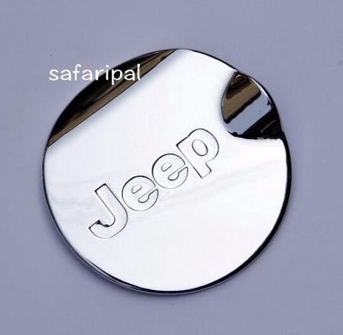 Safaripal Chrome ABS Gas Fuel Tank Cap Cover  for Jeep Patriot  2011-2015 1Pc