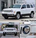 Safaripal Bezels Front Light Headlight Angry Bird Style Trim Cover ABS for Jeep Patriot 2011-2015