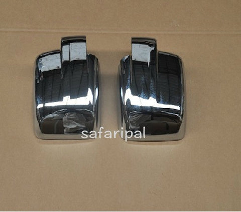 Safaripal Rearview Mirrors Cover Trim ABS Chrome for Jeep Patriot 2pcs