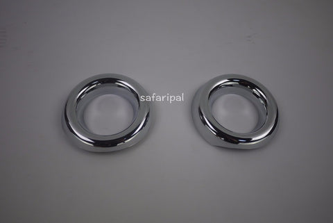 Safaripal Chrome Front Fog Light Lamp Bezel Trim Cover for Jeep Compass 2011-2014