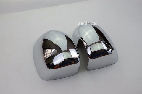 Safaripal Rearview Mirrors Cover Trim ABS Chrome for 2011-2015 Jeep Compass 2PCS