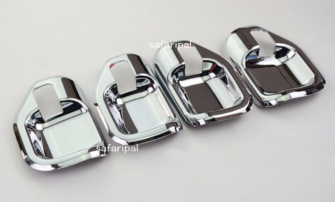 Safaripal Door Chrome ABS Interior Handle Bowl Cover Trim 4PCS For Jeep Compass 2011-2015