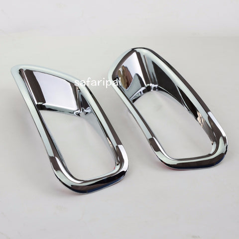 Safaripal Chrome Rear Tail Fog Lights Lamp Cover Trim ABS 2pcs For Jeep Compass