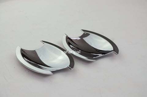 Safaripal Door Chrome ABS Outer Handle Bowl Cover Trim 2PCS For Jeep Compass 2011-2015