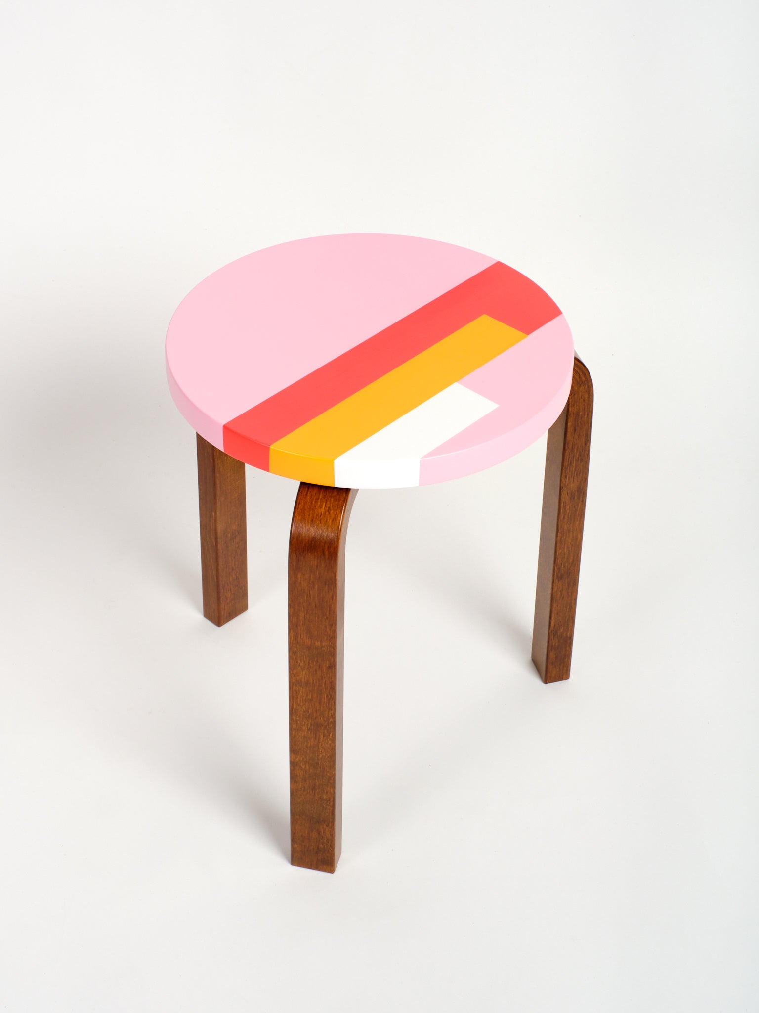 LTD ED FNC Artek Stool 60, Rose 02