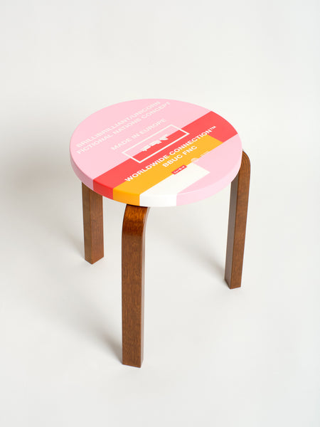 LTD ED FNC Artek Stool 60, Rose 03