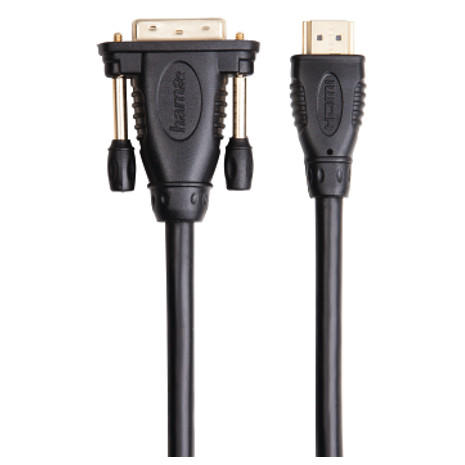 Hama 2 Meters Gold Plated HDMI-DVI Cable