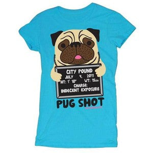 D&G Pug Shot Doodle Junior Garment Dyed Tee