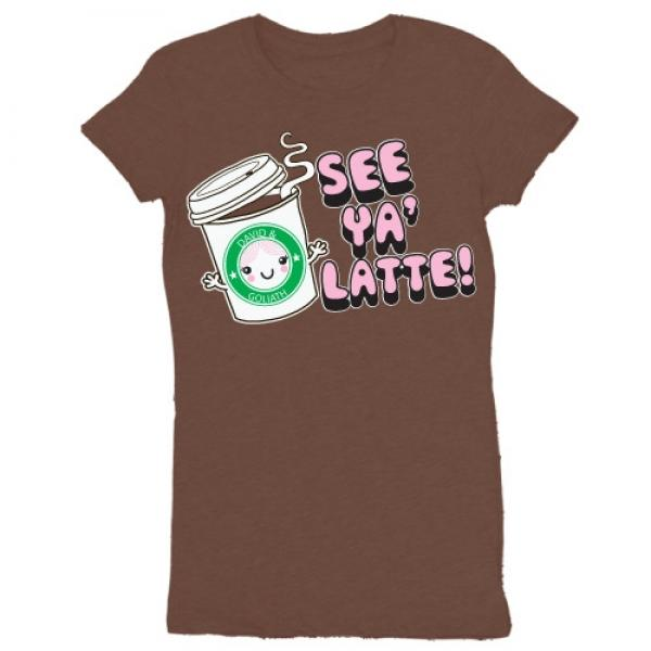 D&G See Ya Latte Junior Garment Dyed Tee