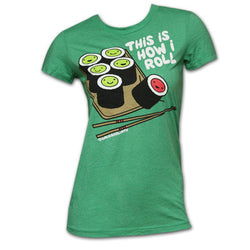 D&G This Is How I Roll - Sushi Garment Dyed Tee Kelly Green