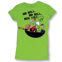 D&G We Will We Will Wok You! Garment Dyed Tee
