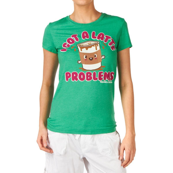 D&G I Got A Latte Problems  Junior Garment Dyed Tee