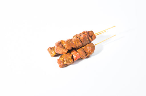 Chermoula marinated lamb skewer