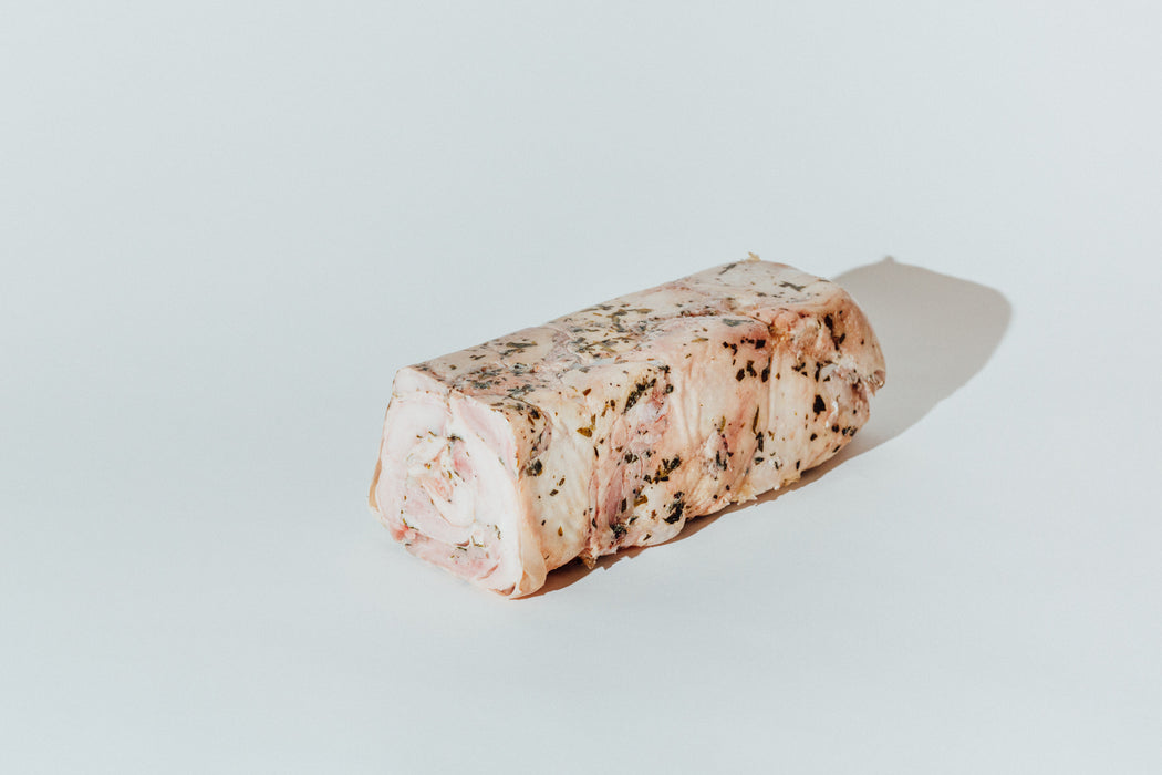 Chicken & pressed tarragon terrine